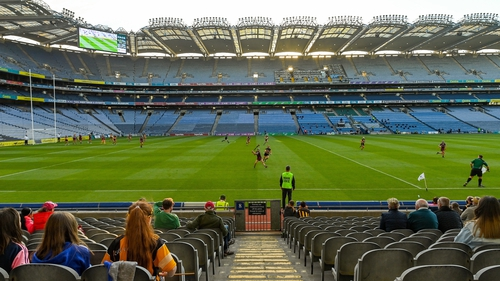 Up to 3,000 fans were allowed attend the camogie league final between Galway and Kilkenny
