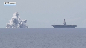 The US Navy said the trials are necessary to test that its vessels can withstand battle conditions