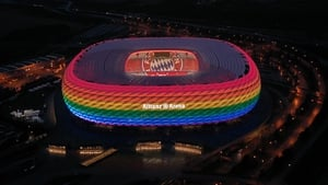 It is possible to change the translucent cover of the Allianz Arena