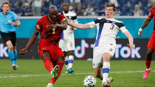 Romelu Lukaku scored Belgium's second