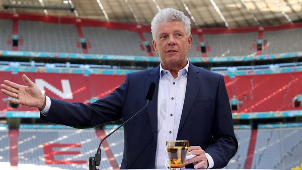 Munich Mayor Dieter Reiter during a press conference at an official visit at Allianz Arena