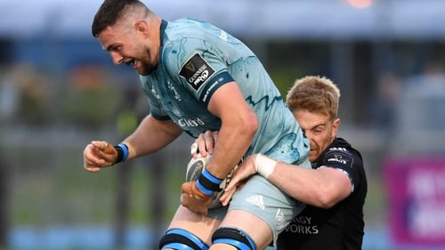 Josh Murphy (L) pictured in action against Glasgow Warriors