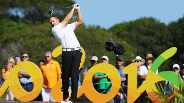 Sergio Garcia competing at the Rio Games
