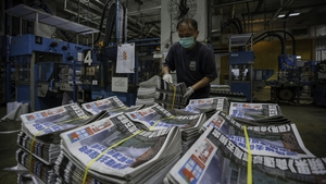 Printers at Apple Daily ran for one final time