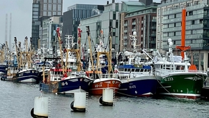 The flotilla made its way upriver and the fishermen delivered a letter to the Taoiseach at the National Convention Centre