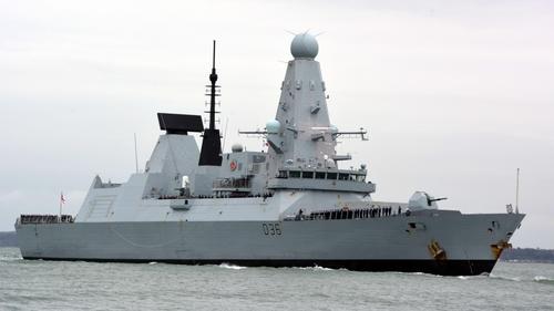 Russia said 'a border patrol ship fired warning shots' at HMS Defender (stock image)