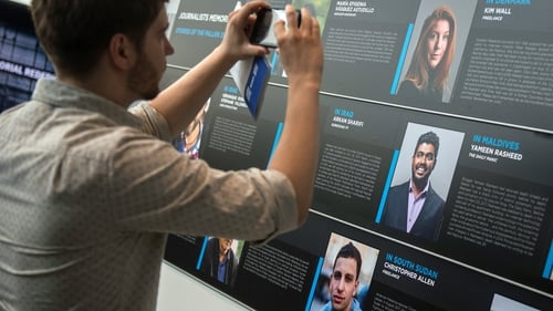 A memorial event in 2017 at the Newseum in Washington DC paying tribute to journalists who lost their lives reporting the news