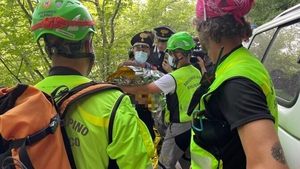 The boy was rescued after almost 36 hours (Pic: CNSAS/Twitter)