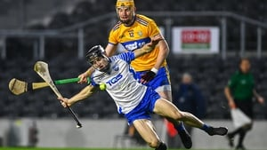 Waterford's Jamie Barron and David Fitzgerald of Clare tangle in last year's quarter-final
