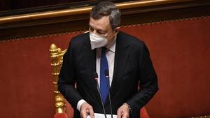 Mario Draghi speaking in the Senate