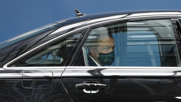 Micheál Martin pictured as he arrived for the EU leaders summit