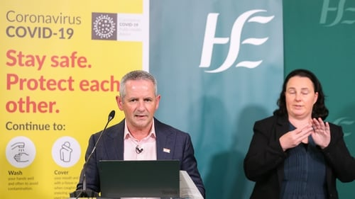 Paul Reid was among those delivering the HSE's weekly update today