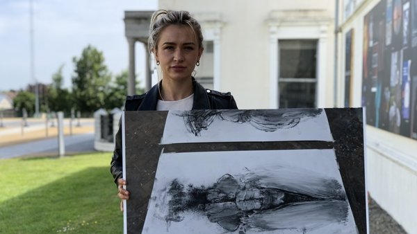 Fine Art graduate Mollie McCullough from Dublin displays an image of her final year project
