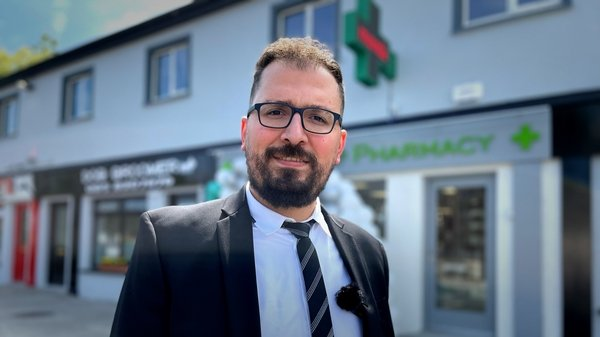 One of the first Syrian refugees to have been resettled to Ireland, Fadi Almasri has opened a pharmacy in rural Carlow