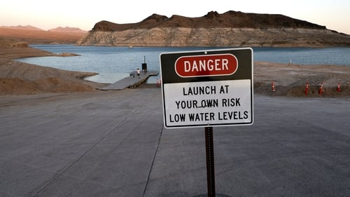 Lake Mead is the largest reservoir in the US and is crucial to the water supply of 25 million people
