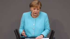 Angela Merkel gave her last government declaration in the German parliament today