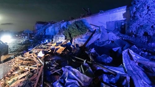 The tornado hit several towns and villages