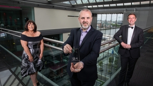 Pictured at the Ireland Chapter of Project Management Institute's (PMI) National ProjectAwards in association with PwC are Jackie Glynn, Ireland Chapter of PMIPresident; Special Covid-19 Response Award winner Dave Bolger; and FéilimHarvey, Partner