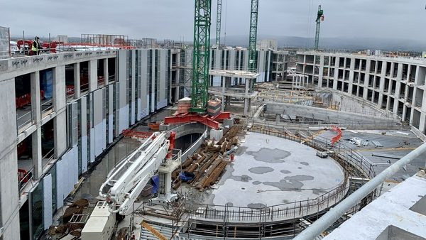 The estimated date of completion for the National Children's Hospital is December 2023