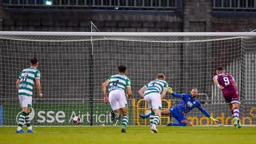 Chris Lyons strikes home Drogheda's leveller