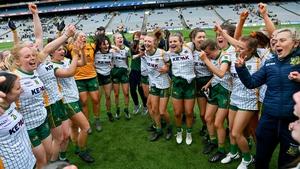 Meath celebrate their league final triumph