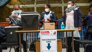 Vaccinations are carried out a designated site in Tembisa, South Africa