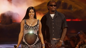 Cardi B and Offset - Shared happy news during BET performance