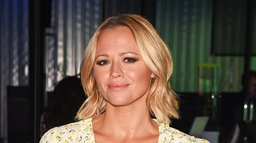 Kimberly Walsh gave birth last month to son Nate