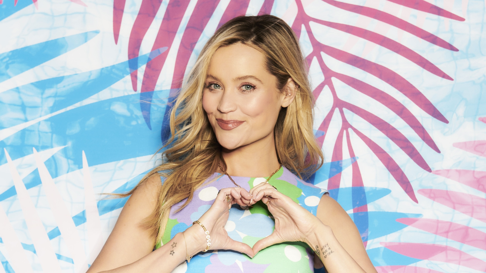 Laura Whitmore stuns in floral playsuit on Love Island: Aftersun