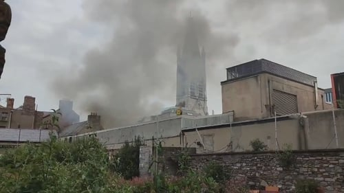 The fire began at a seated area at the back of the venue, which is located in the Liberties (Pic: @itsThemuRR)