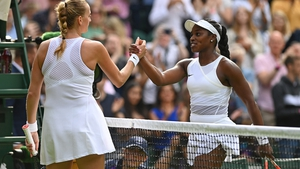 Stephens (r) triumphed 6-3 6-4 over the 10th see