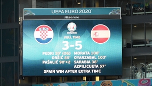 The eight goals were the second highest number scored in a European Championship finals game