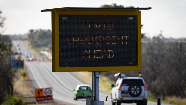 Border checkpoint on Indian Ocean Drive in Perth