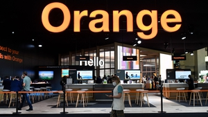 The Orange stand at the Mobile World Congress (MWC) fair in Barcelona