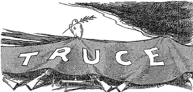 Cartoon on the truce Photo: Sunday Independent, 17 July 1921