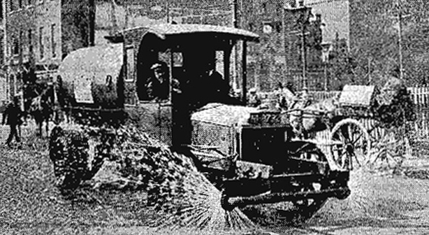 Century Ireland Issue 208 - Keeping down the dust, a watering cart (using canal water) sprinkling the streets of Dublin. Photo: Freeman's Journal, 13 July 1921