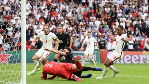 Raheem Sterling opened England's account against the Germans
