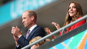 Kate Middleton wears red high street blazer for family day out Photo: Getty