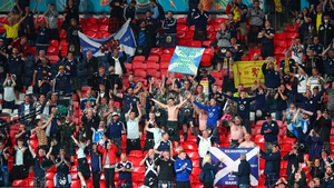 Scotland fans at Wembley for the group match against England