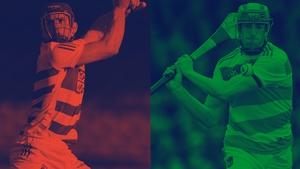 Cork goalkeeper Patrick Collins, left, and Limerick's Nickei Quaid.