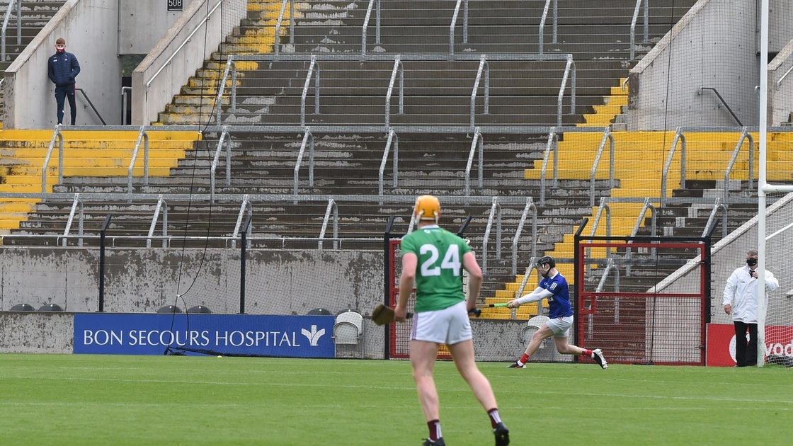 Image - Patrick Collins watches on in the stand during Ger's debut against Westmeath in the league