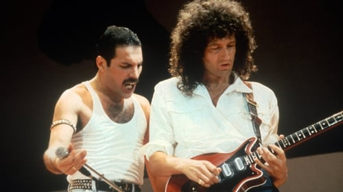 """Freddie with Brian May: """"It now seems like Freddie is with us."""""""