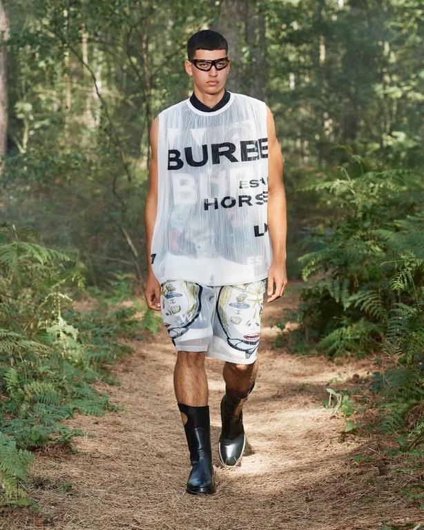Burberry SS21 at London Fashion Week (Burberry/PA)