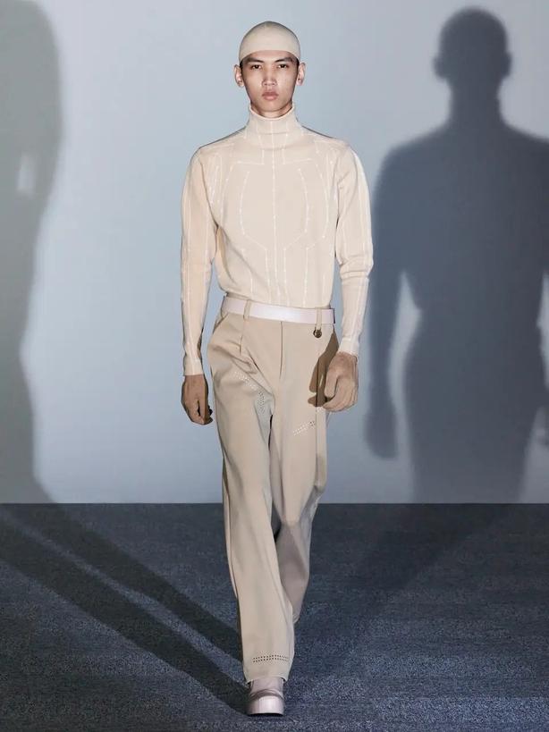 Xander Zhou at London Fashion Week (Xander Zhou/PA)