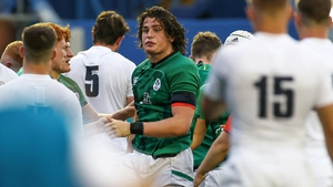 Alex Soroka scored Ireland's first try early in the second half