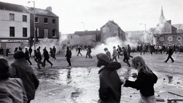 Bloody Sunday in Derry in 1972