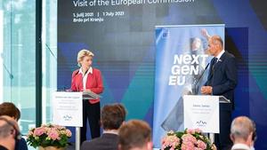 Tense news conference involving Ursula von der Leyen and Janez Janša
