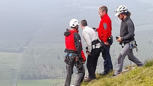 Members of the Sligo Leitrim Mountain Rescue Team were winched to the mountain