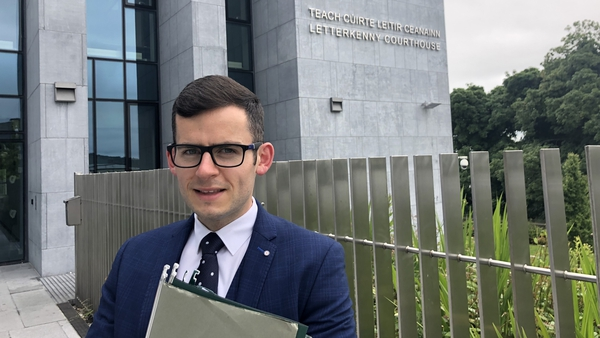 Trainee solicitor Jason Laverty outside Letterkenny Courthouse