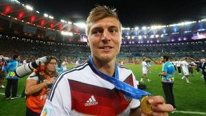 The 2014 World Cup winner earned 106 caps for his country, scoring 17 goals and claiming 19 assists